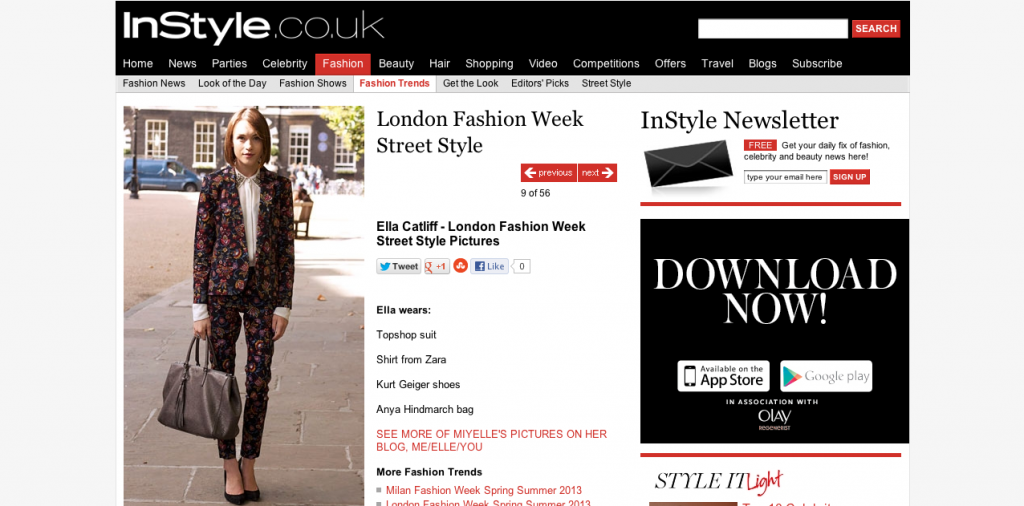 InStyle.co.uk, La Petite Anglaise, Press