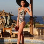 REISS swimsuit, poolside glamour