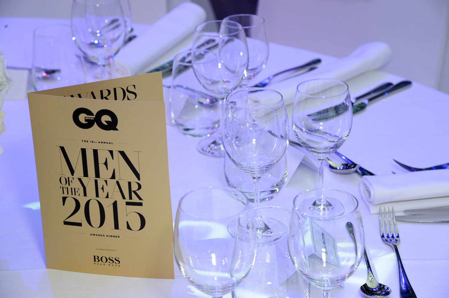 'GQ Men Of The Year Awards 2015 In Association With Hugo Boss' at Royal Opera House, London, Britain, Monday 8th September