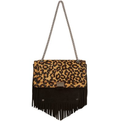 claudie pierrot angela leo bag, leopard print, harrods